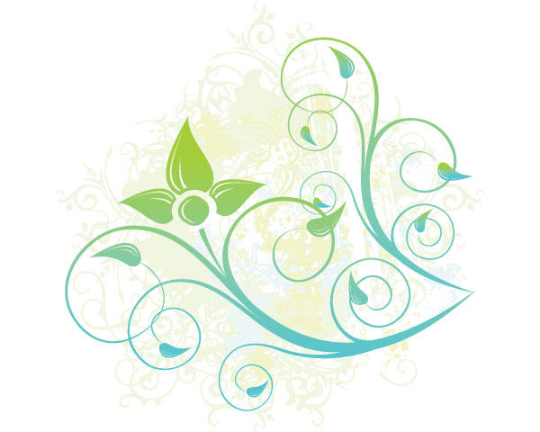 Swirl Floral Design Illustration