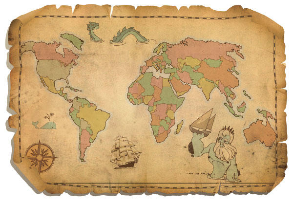 Free antique world map vector 123freevectors free antique world map vector gumiabroncs Image collections