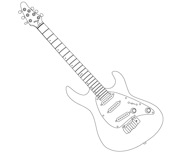 cort guitar outline vector image