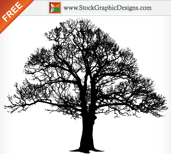 tree silhouette free vector graphics 123freevectors