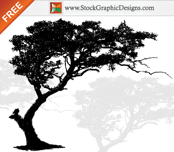free vector art tree silhouette 123freevectors rh 123freevectors com tree vector artwork free vector art