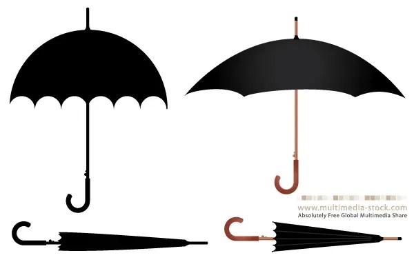 free umbrella vector set 123freevectors rh 123freevectors com umbrella vector free download umbrella vector free