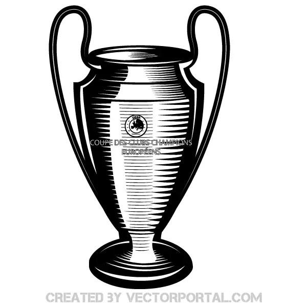 Champions League Cup Vector Art 123Freevectors