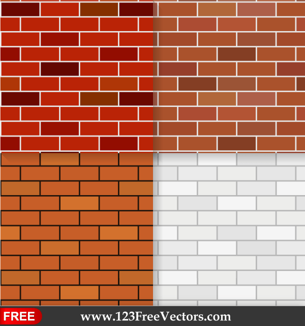 Brick Wall Texture Seamless Pattern Background Vector