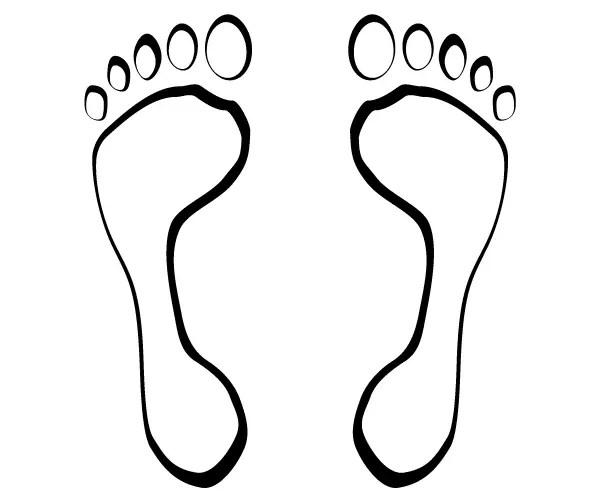 footsteps vector clip art 123freevectors rh 123freevectors com