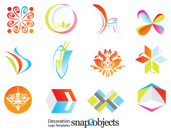 Logo Templates Free   Free Decoration Logo Template Vector Icons 123freevectors