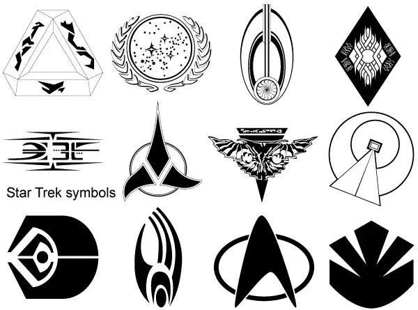 Star Trek Symbols Vector | 123Freevectors