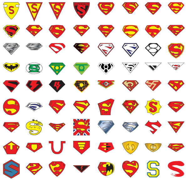 "72 Years of Superman ""S"" Logo Vector"