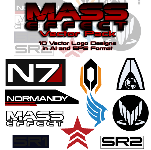 Mass Effect Free Vector Pack 123freevectors