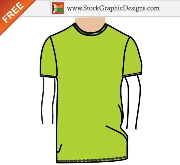 men s basic t shirt template free vector illustration 123freevectors