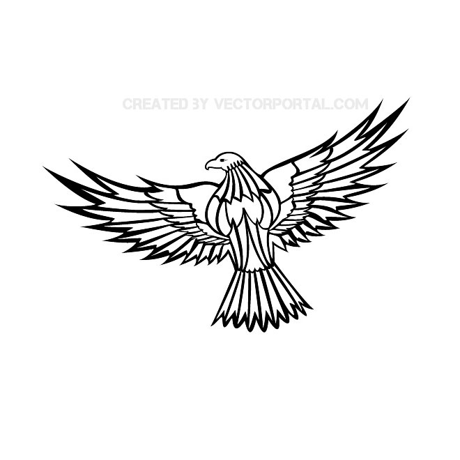 flying eagle clip art free vector 123freevectors