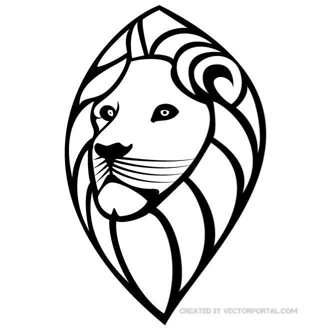 head of a lion free vector 123freevectors rh 123freevectors com lion logo vector free lion vector freepik