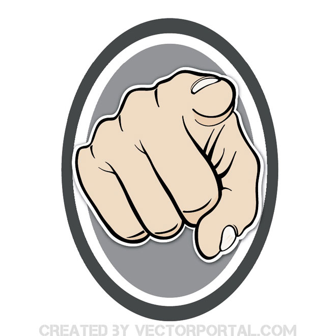 Pointing The Finger Sign Free Vector 123Freevectors