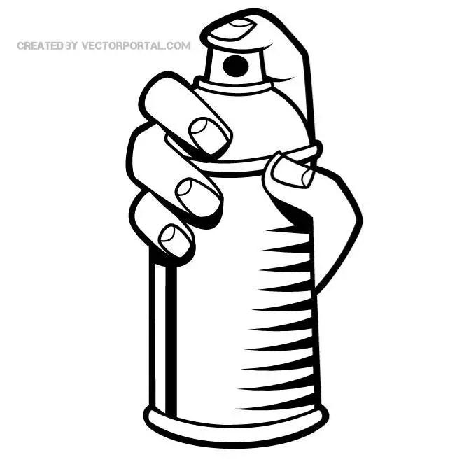 spray paint clip art free vector 123freevectors rh 123freevectors com  spray paint vector free