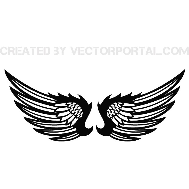 wings clip art stock free vector 123freevectors rh 123freevectors com vector wings free vector winds