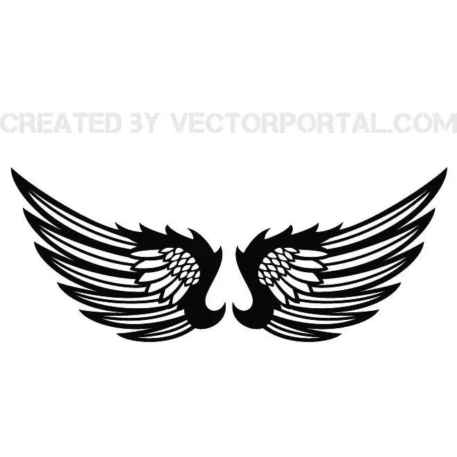 wings clip art stock free vector 123freevectors rh 123freevectors com vector winds vector winds kestrel eye