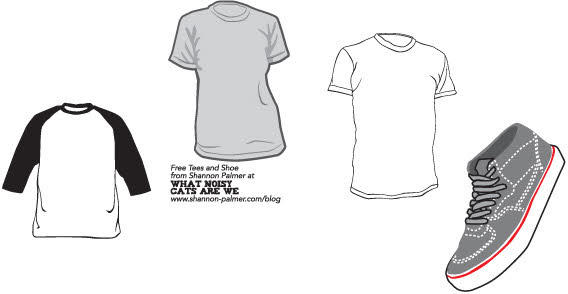Sneakers and t-shirt template   123Freevectors