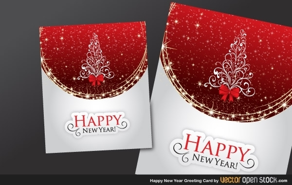 Happy new year greeting card free vector 123freevectors happy new year greeting card free vector m4hsunfo