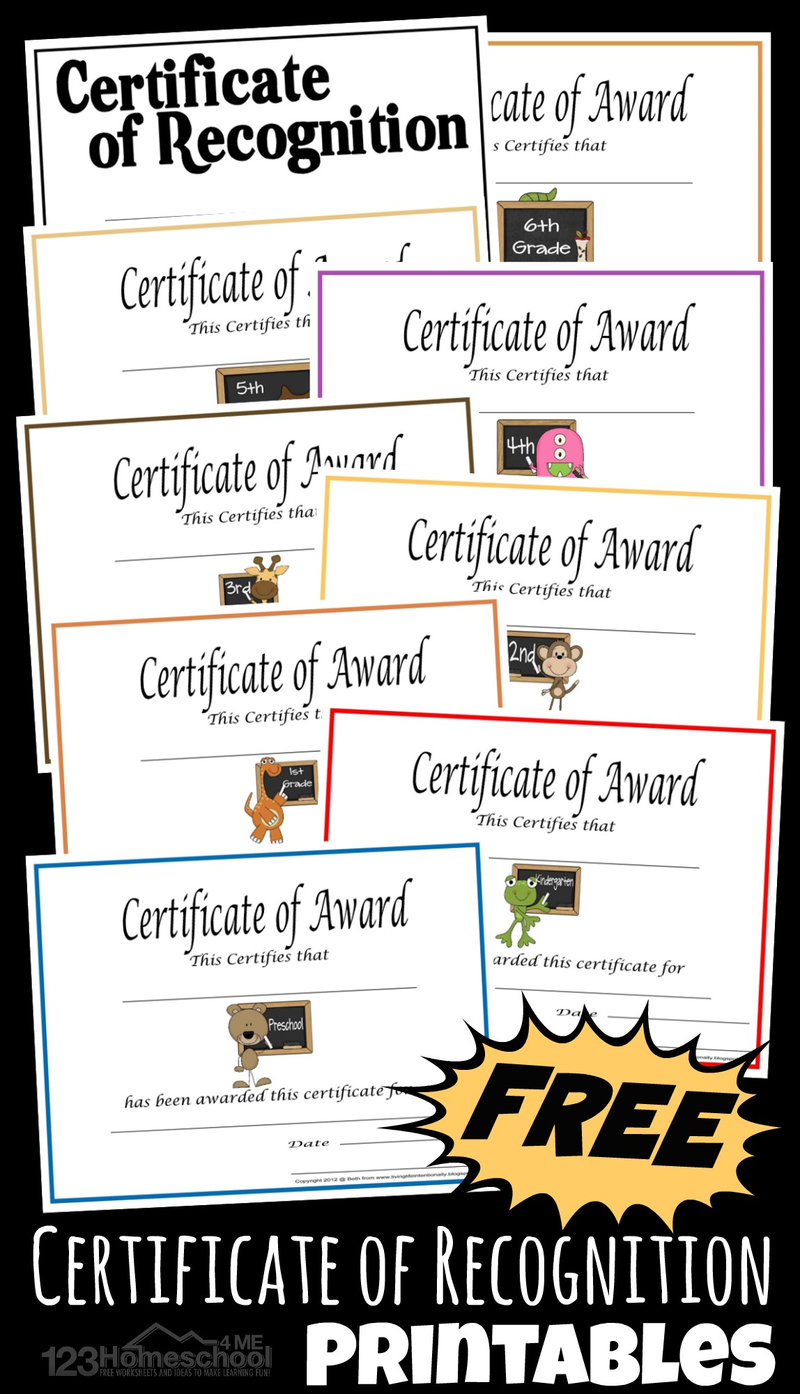 Free Printable Homeschool Certificate