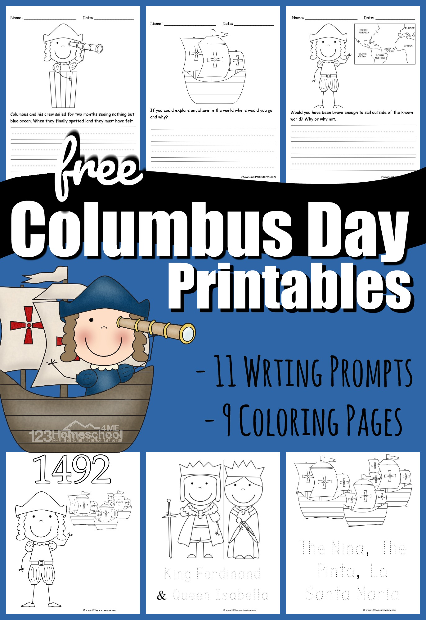 Free Columbus Day Printables