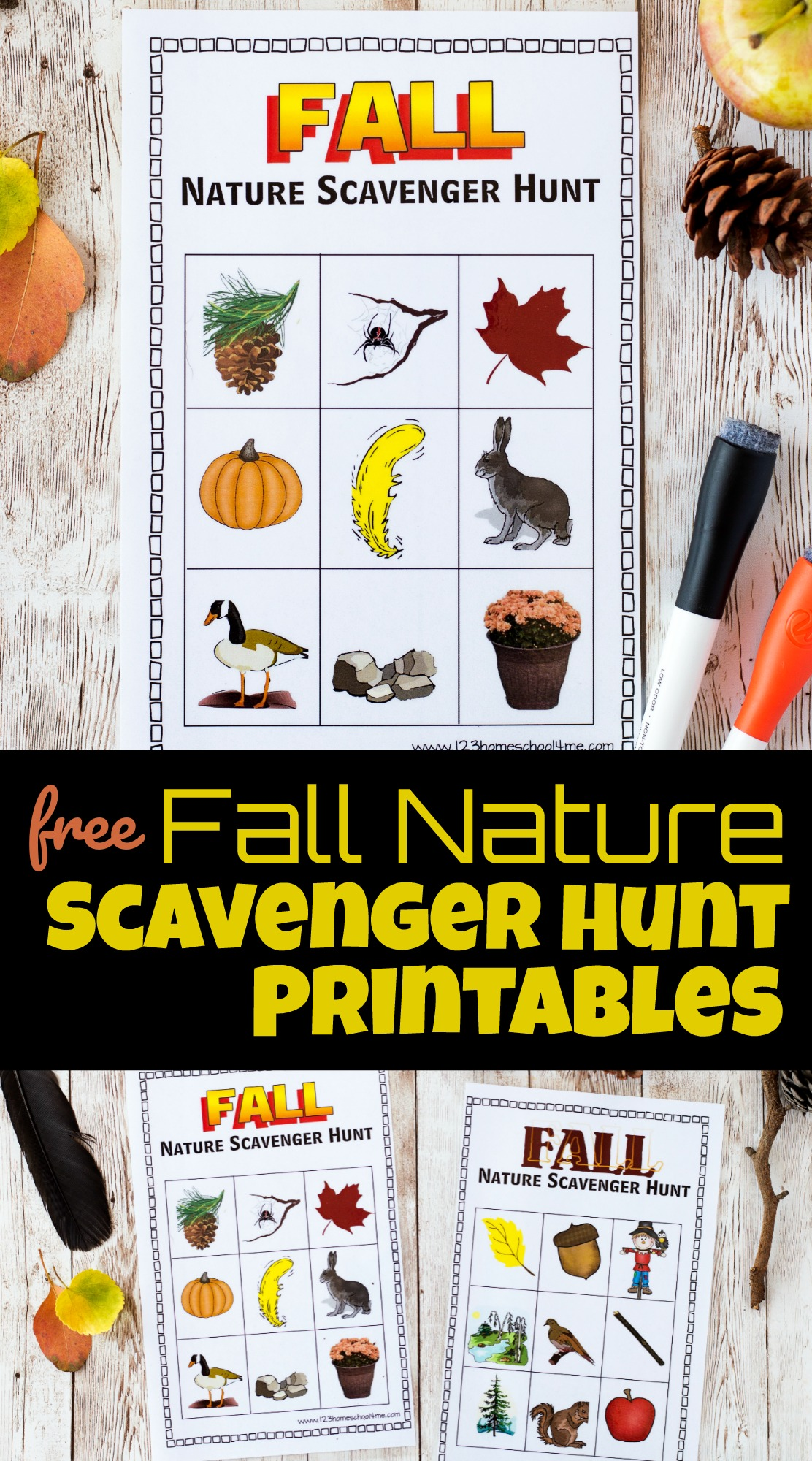 Fall Nature Scavenger Hunt Printables
