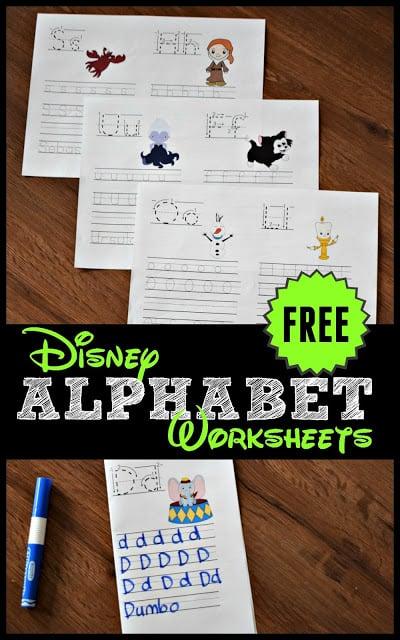 FREE Disney Alphabet Worksheets 123 Homeschool 4 Me