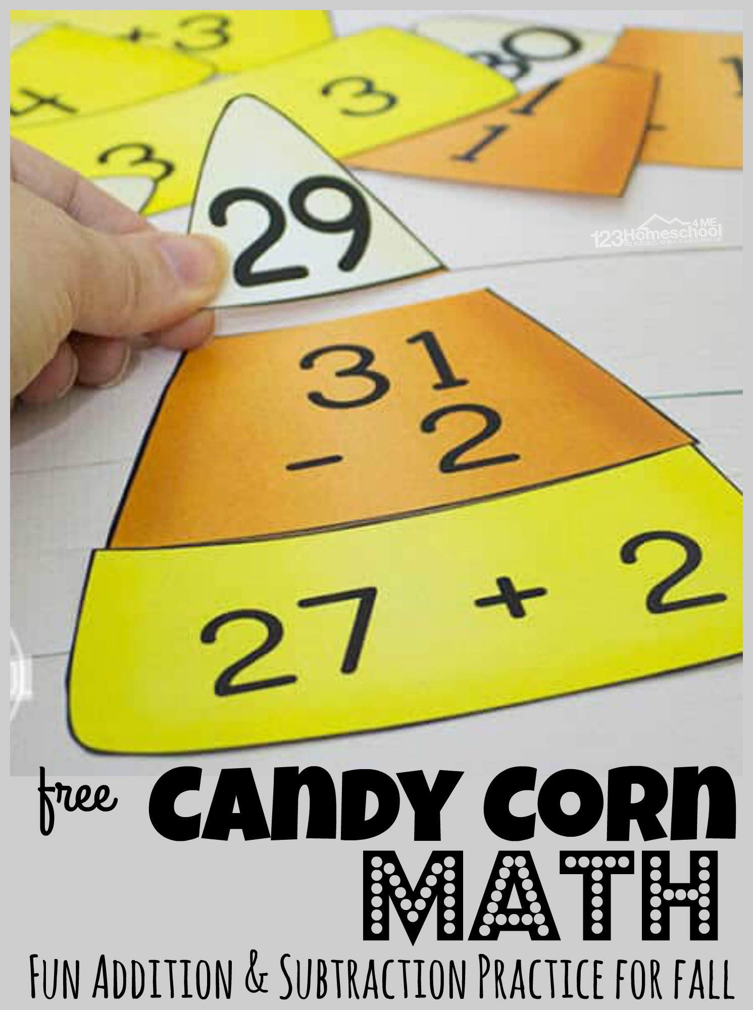 Free Candy Corn Math Subtraction And Addition Puzzles