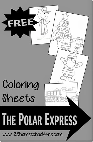 polar express coloring pages free # 27