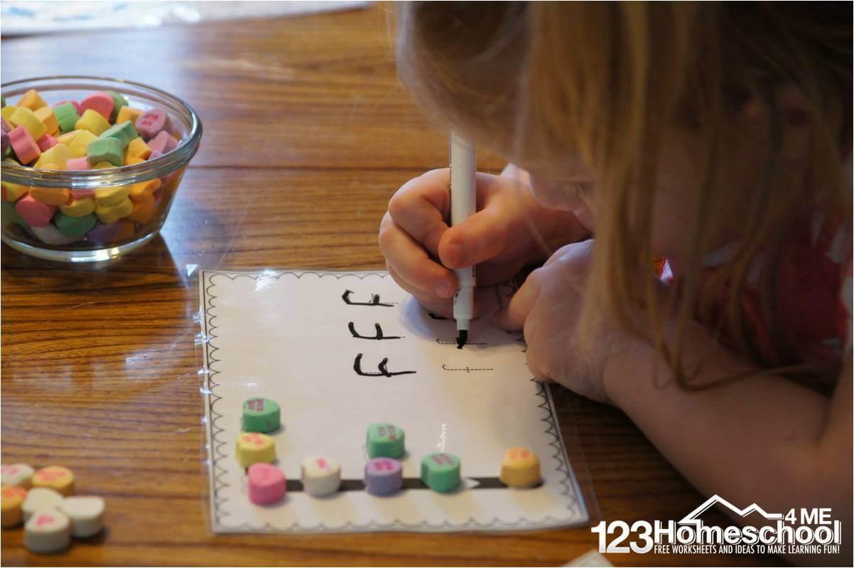 Conversation Heart Alphabet Worksheets
