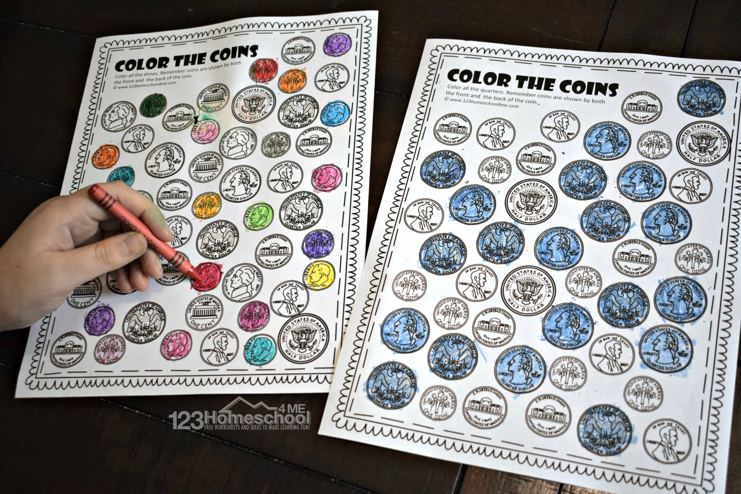 Preschool Worksheet Gallery Preschool Coin Matching Worksheet
