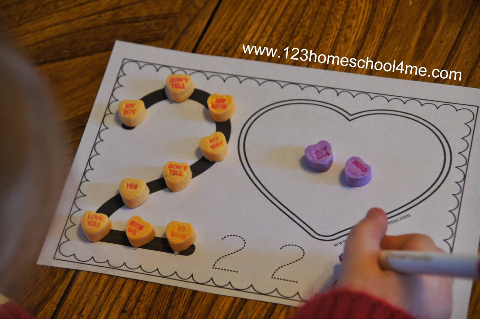Free Valentines Day Numbers Book