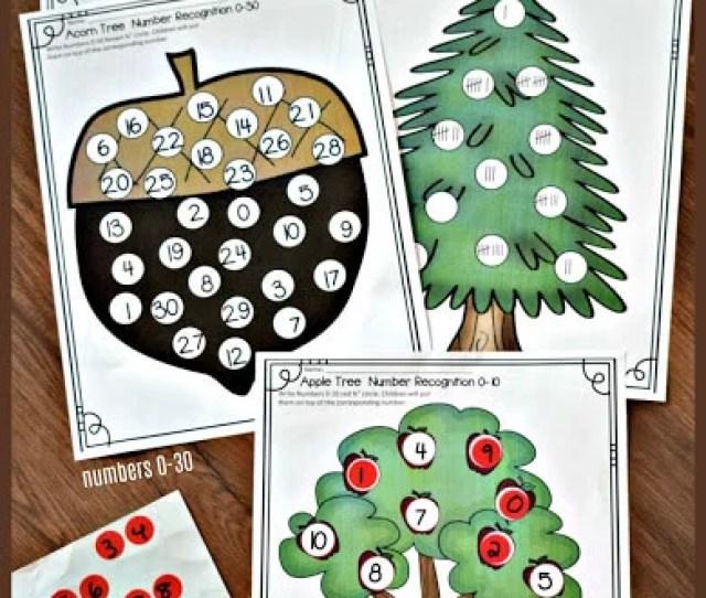 Number Circle Sticker Worksheets