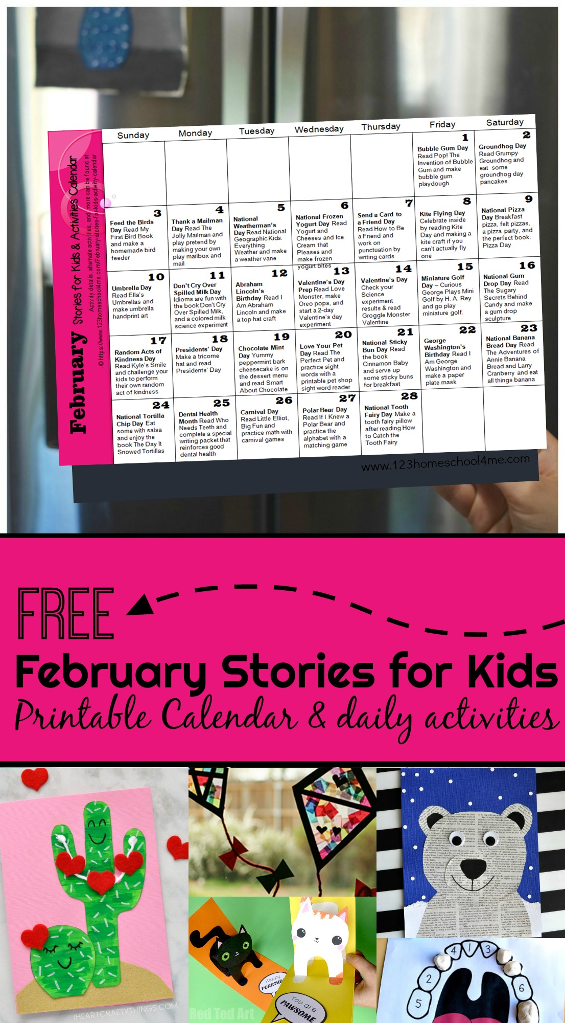 February Stories For Kids With Activity Calendar