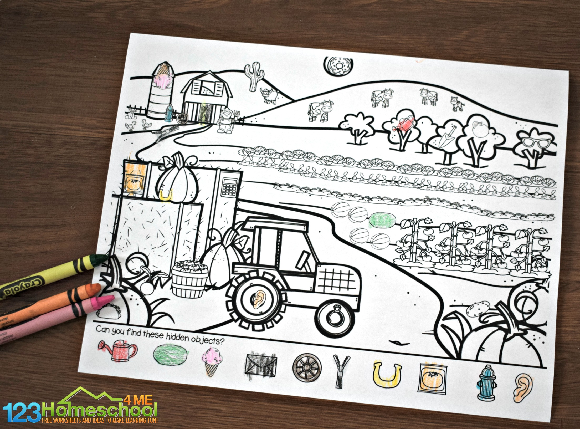 Free Farm Hidden Picture Kindergarten Worksheets And Games