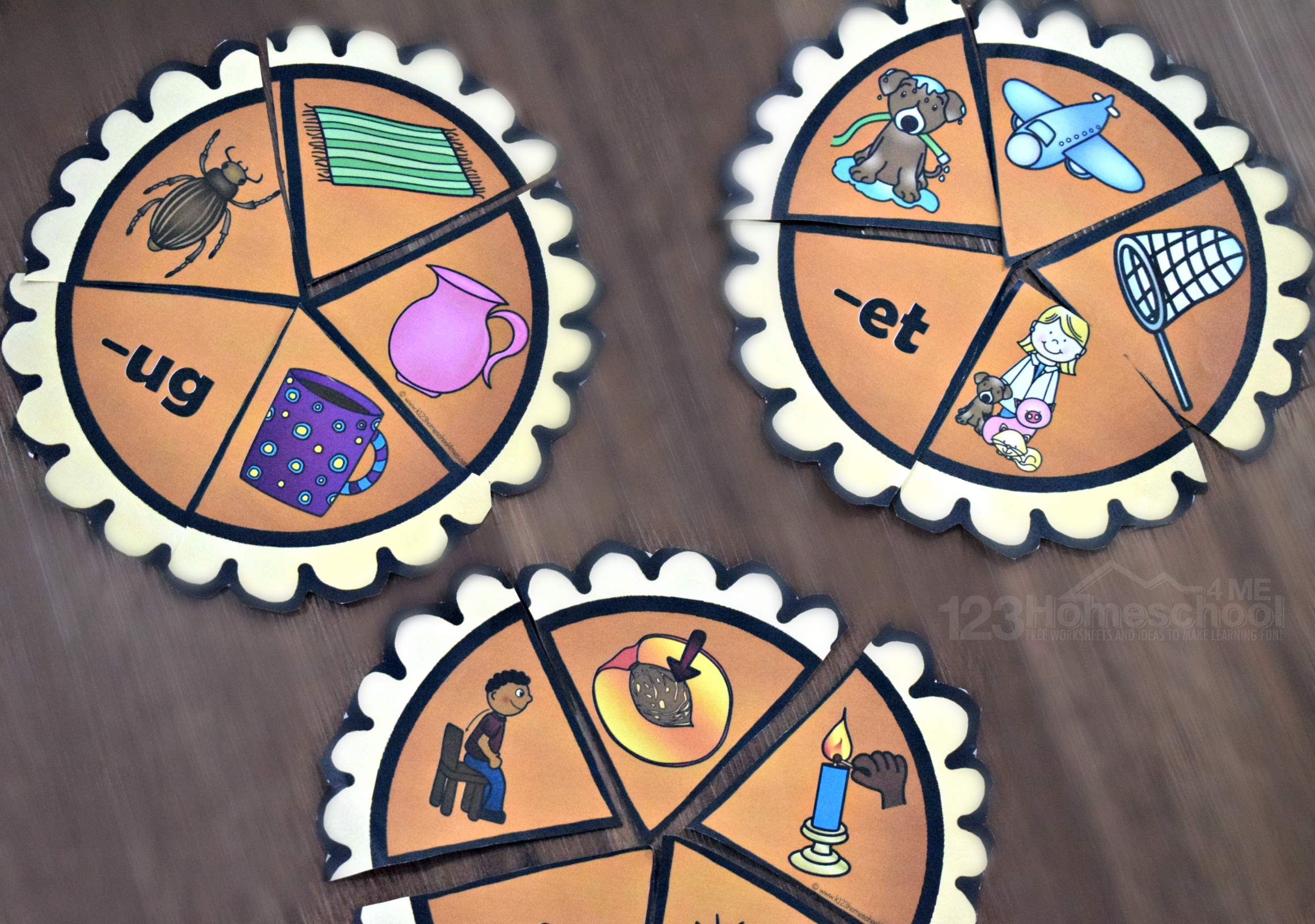 Free Pumpkin Pie Word Family Activity