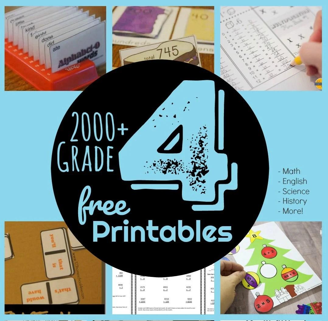 Free 4th Grade Worksheets