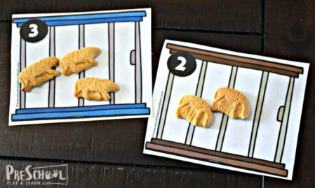 Count to 10 animal cookie printable
