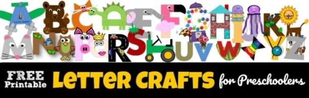 Printable Alphabet Letter Crafts for kids