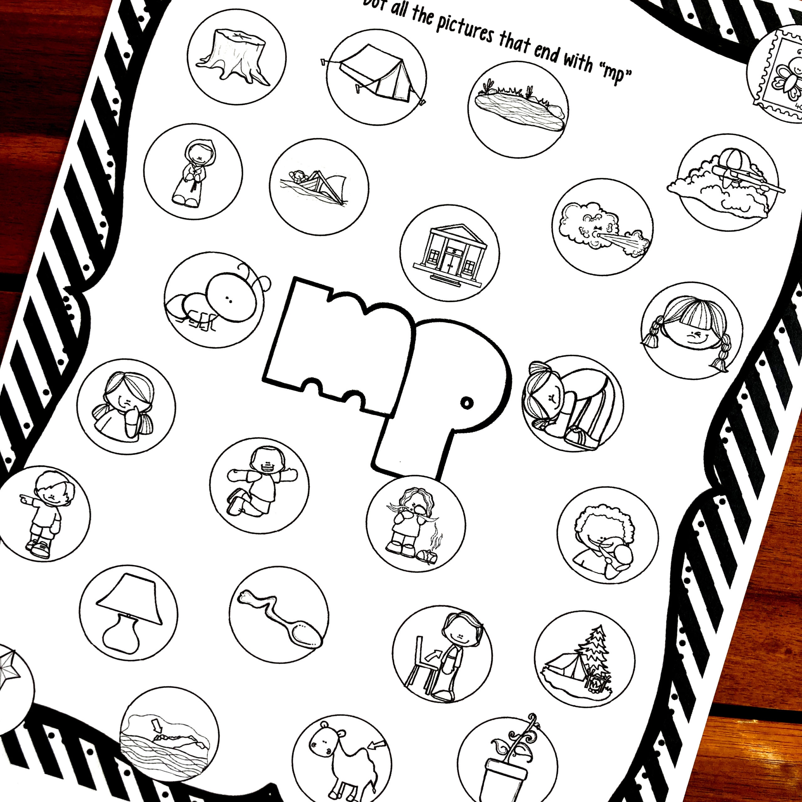 Free Ending Blends Worksheets With Do A Dot Markers