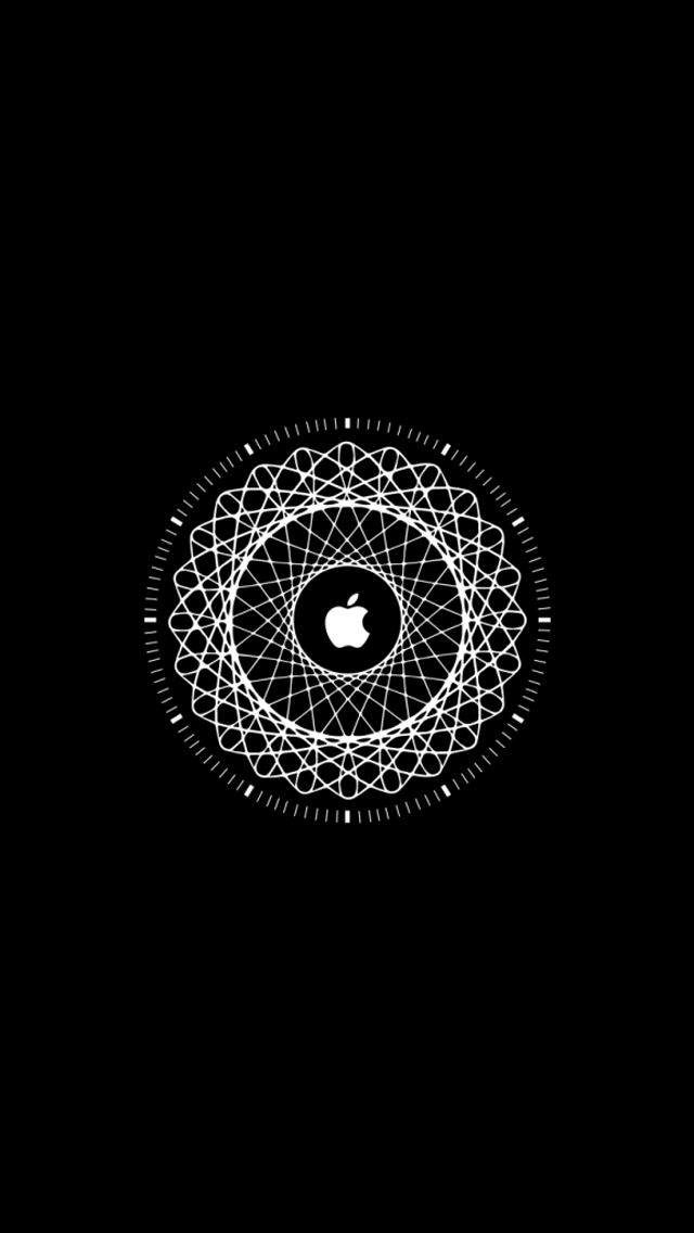apple logo black background hd wallpapershareecom