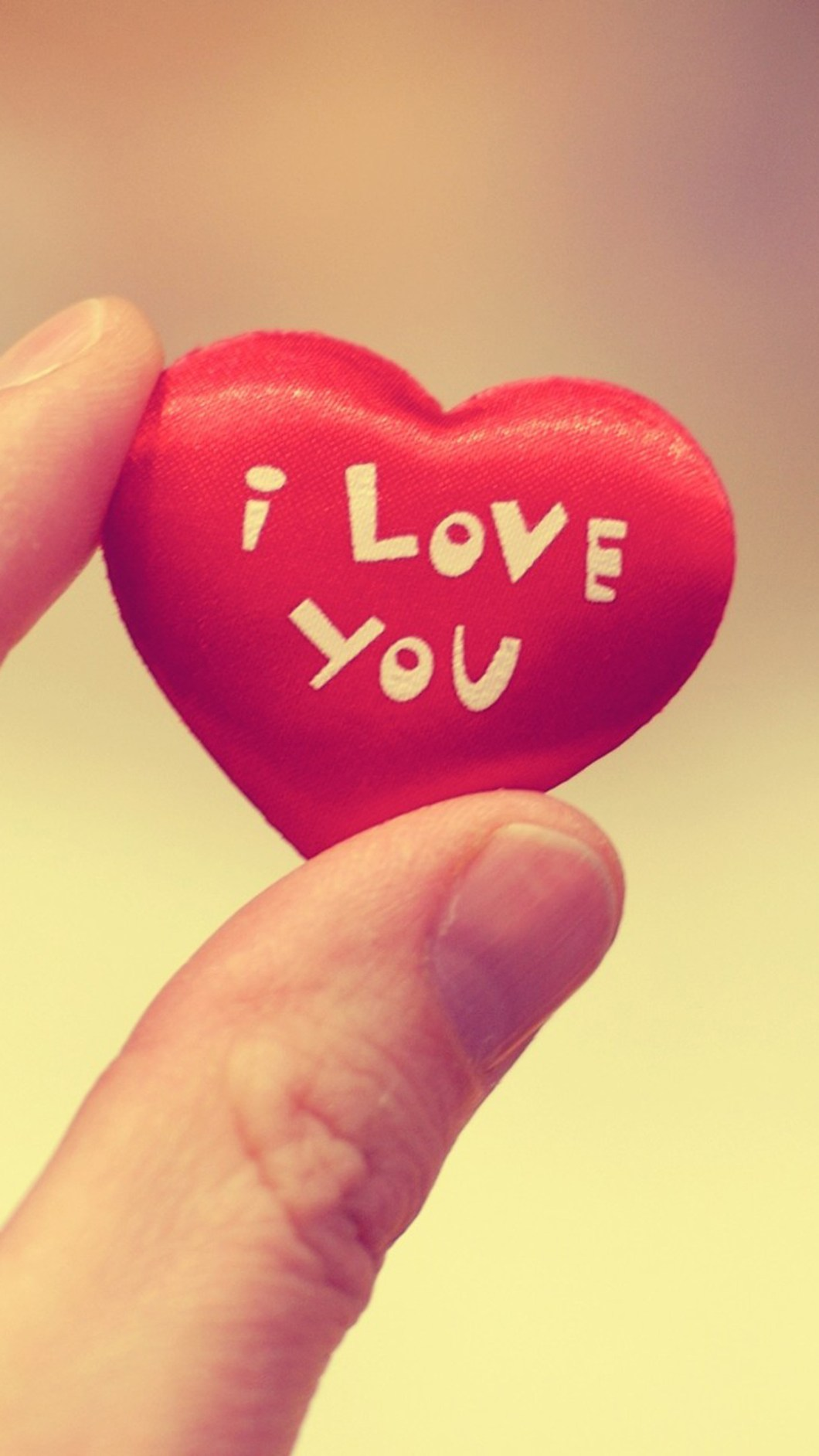 Cute I Love You Heart Mobile Wallpaper Phone Background