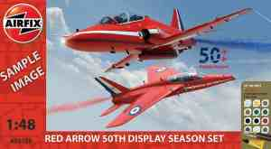 Airfix Red Arrows Gnat And Hawk Gift Set Modelbouwpakket