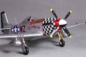 Model Aircraft Company RC Vliegtuig P-51D Mustang Big Beautiful Doll PNP FMS 800 mm serie