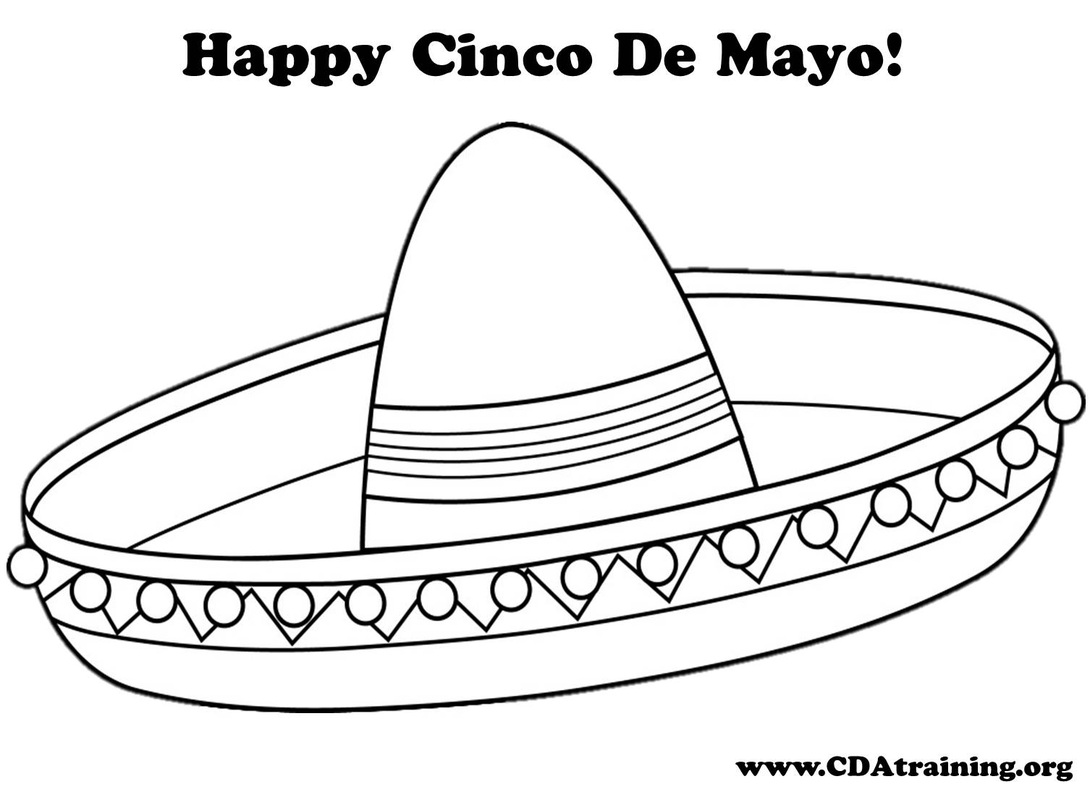 Mexican Sombrero Coloring Sheet