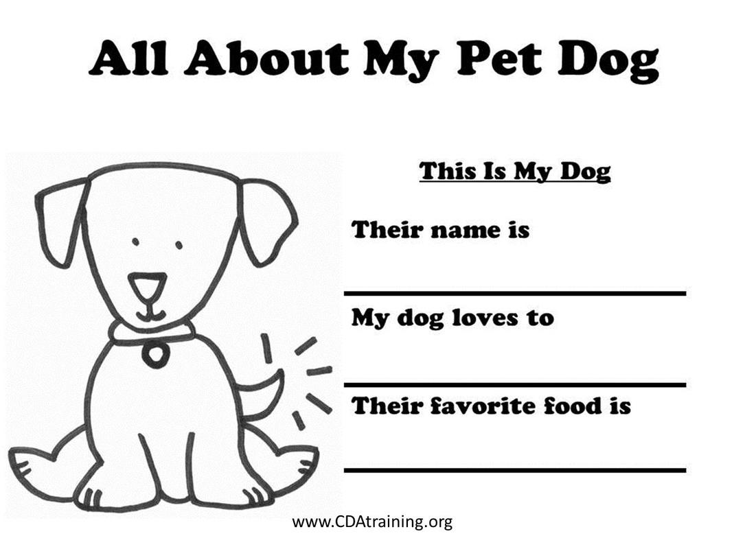 Dog Care Merit Badge Worksheet