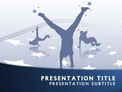 Royalty Free Street Dance PowerPoint Template In Blue