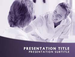 Royalty Free Nursing PowerPoint Template In Purple