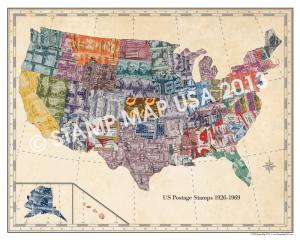 Stamp Map Watermark