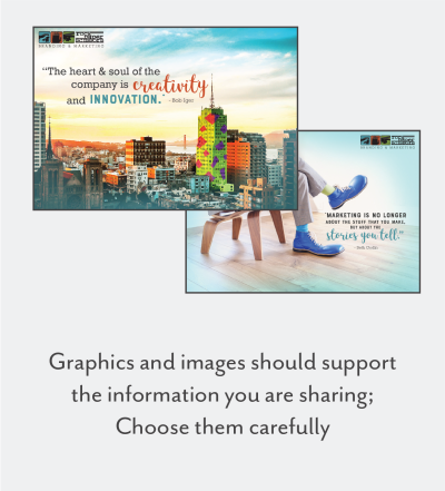 attention-grabbing graphics