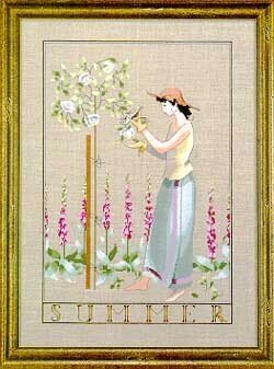 Summer In My Garden - Mirabilia Cross Stitch Pattern